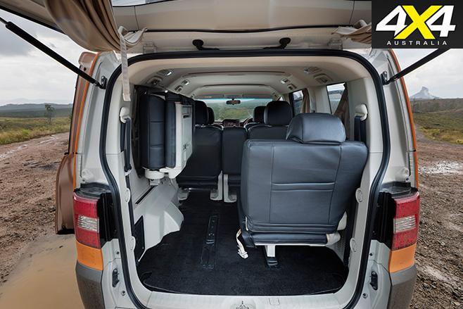 Mitsubishi Delica Bushmaster cabin space