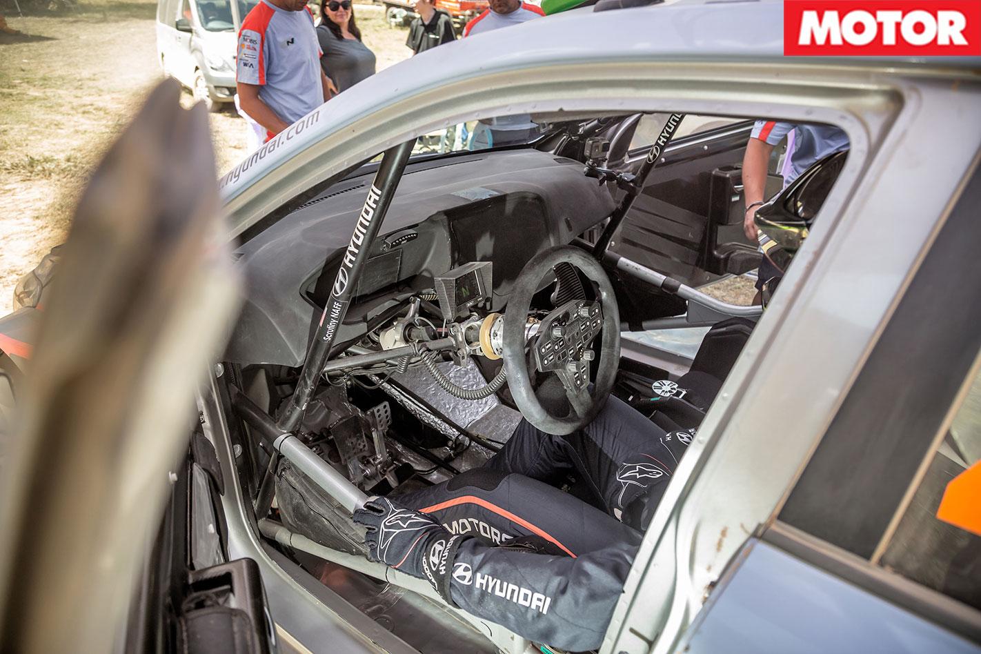 Hyundai i20 WRC Passenger Ride interior