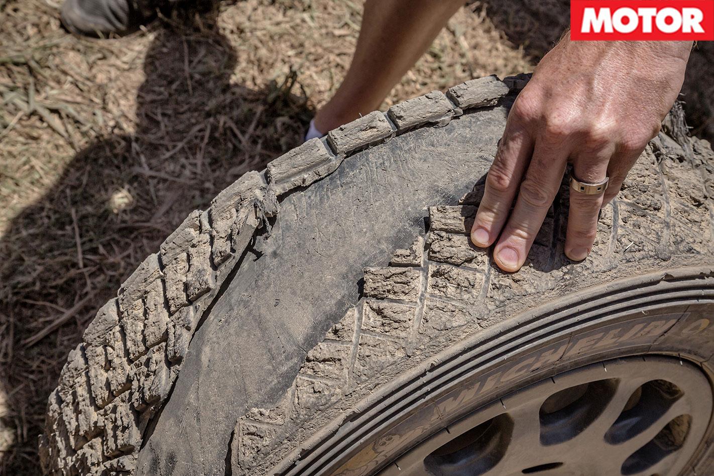 Hyundai i20 WRC Passenger Ride tyre