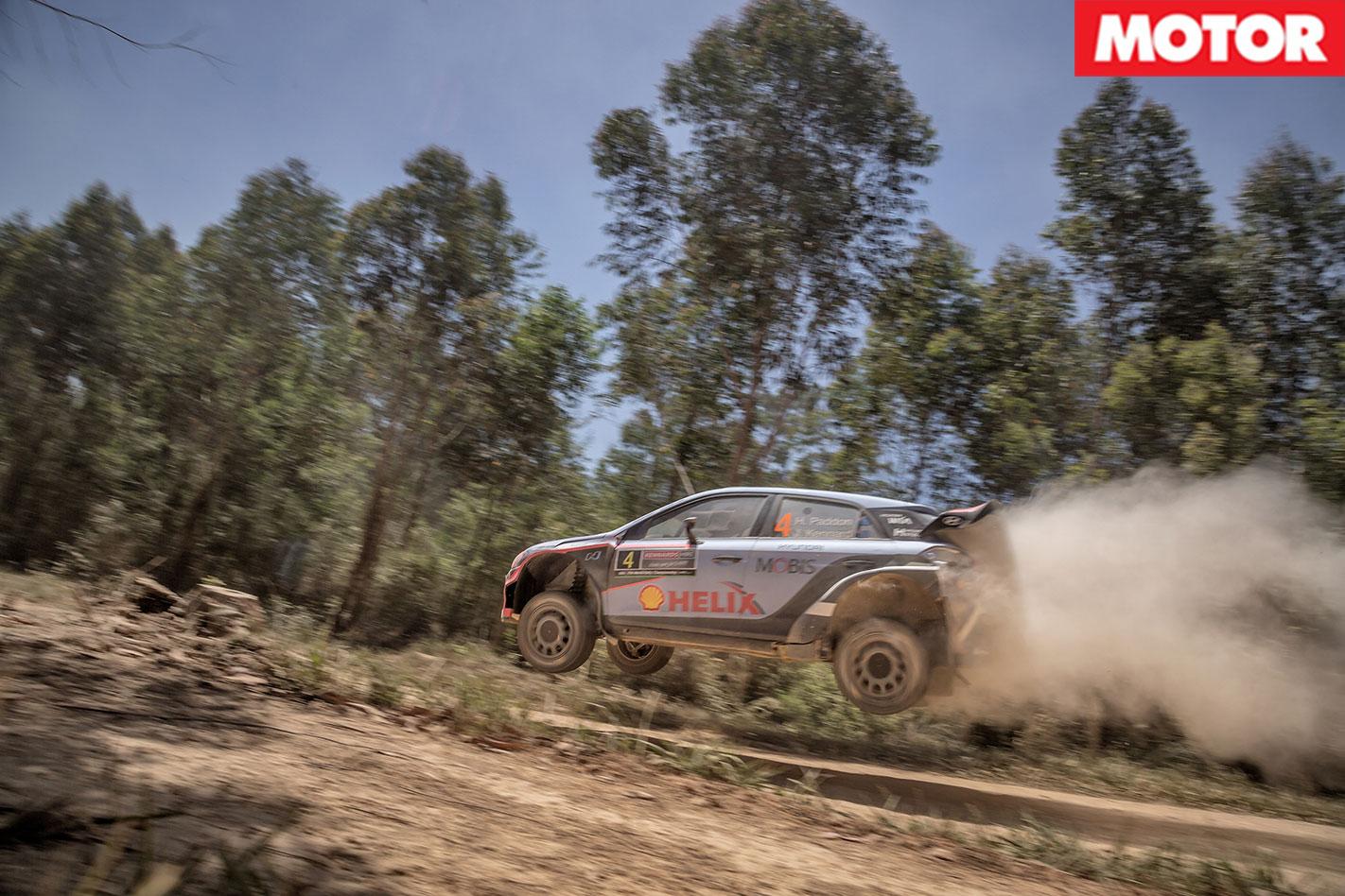 Hyundai i20 WRC Passenger  Ride  jump