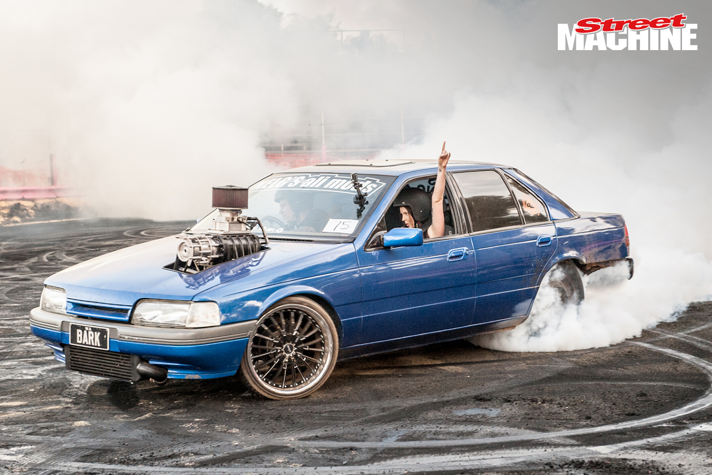 Ford EB Falcon BARK Burnout 8551