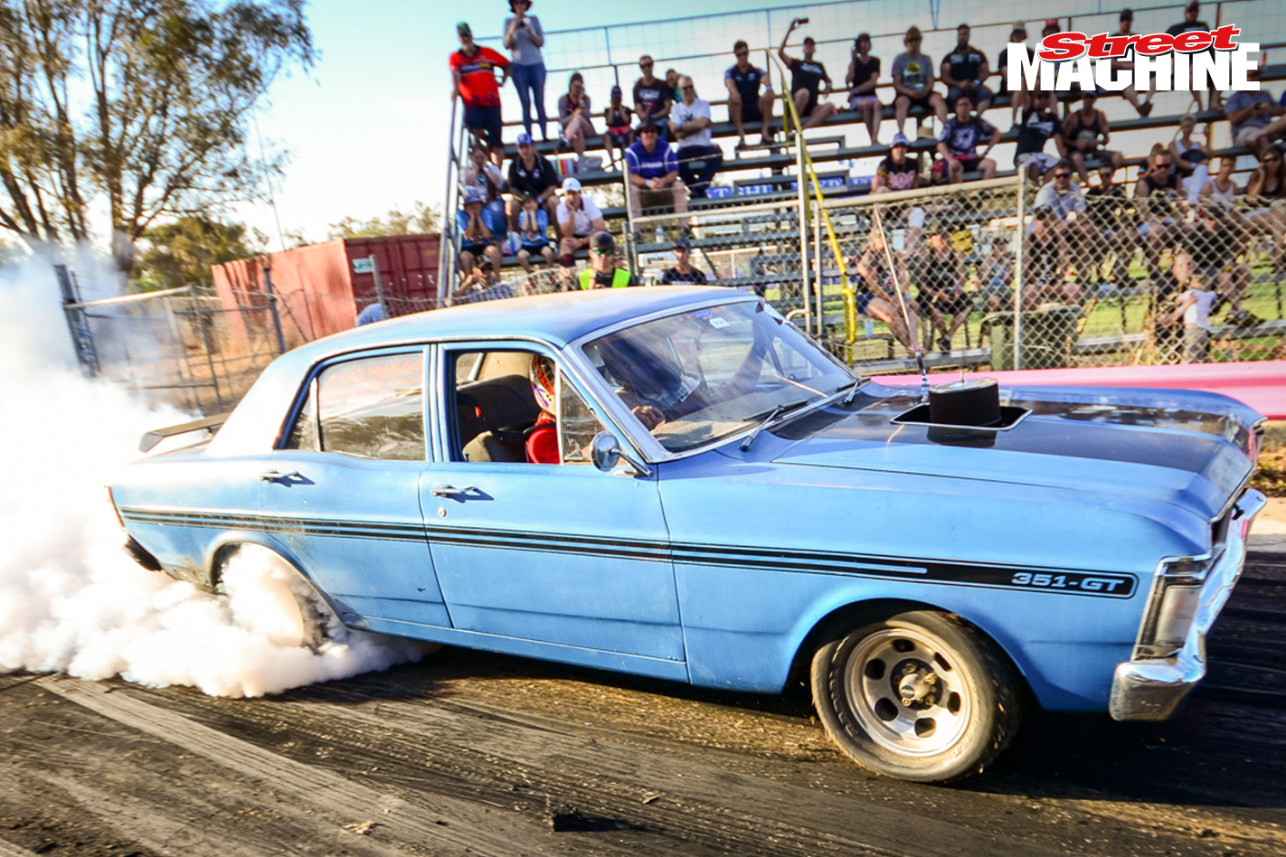 Ford XY GT Falcon Burnout 8470