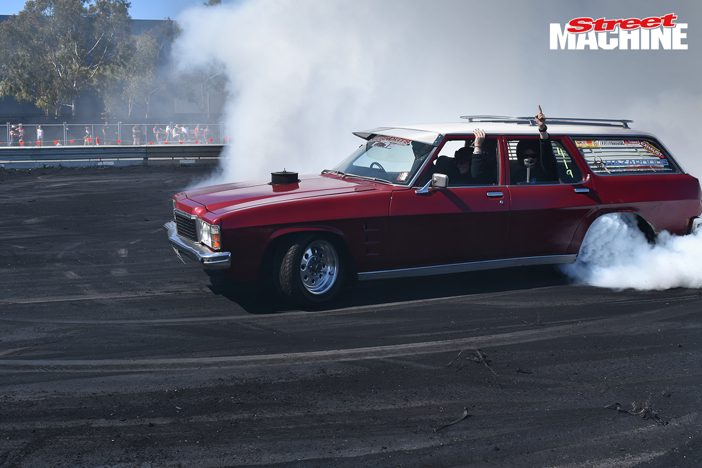 Holden HZ Wagon Burnout POPSHZ