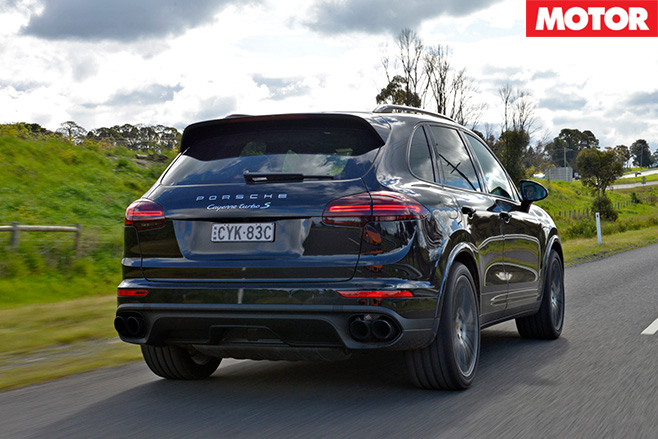 2016 Porsche Cayenne -Turbo S rear