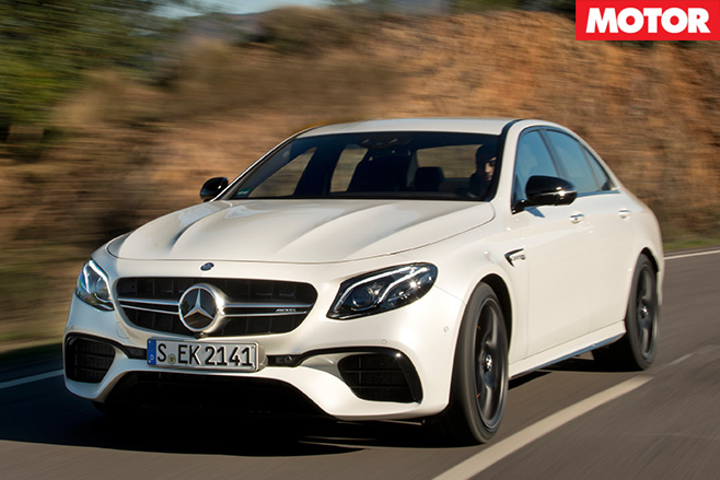 2017 Mercedes-AMG E63 S driving