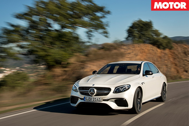 2017 Mercedes-AMG E63 S driving 2