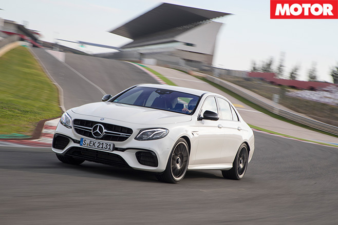 2017 Mercedes AMG-E63-S driving track