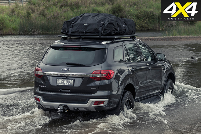 MSA 4X4 Ford Everest rear water driving