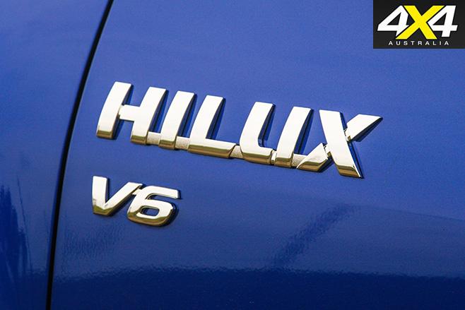 Hilux v6 badge