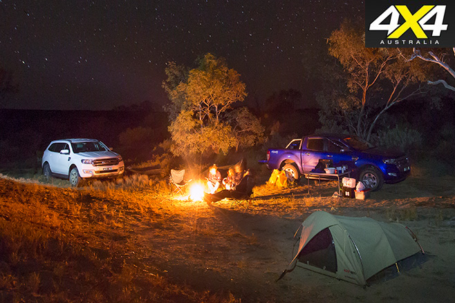 Camping in the bush
