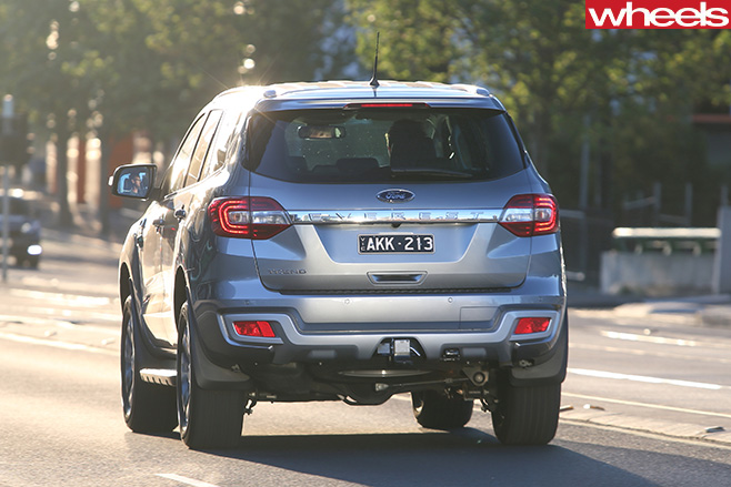 2017-Ford -Everest -RWD-side -rear