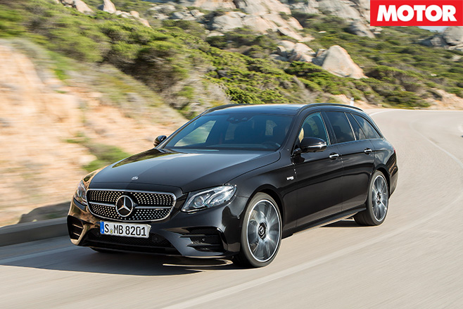 2016 Mercedes-AMG E43 front driving estate