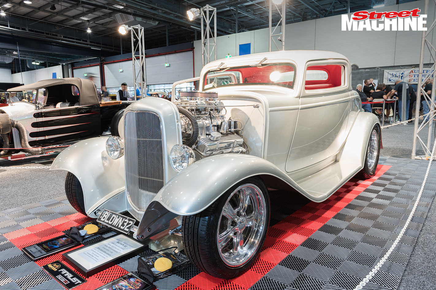 32 Ford Coupe Blown Silver