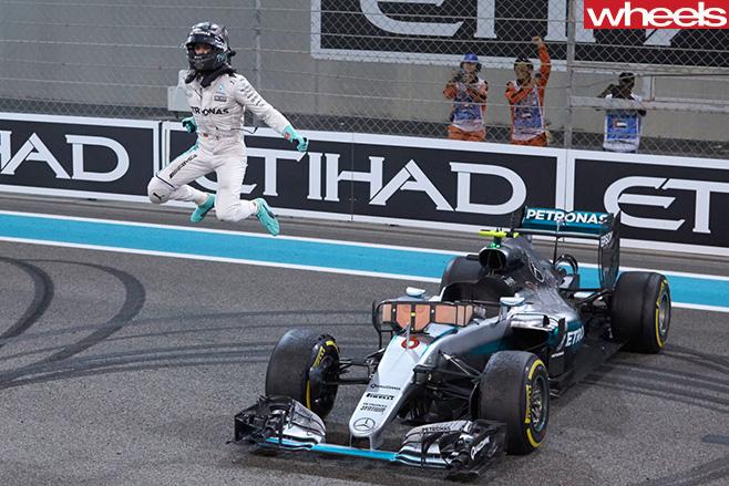 Rosberg title celebration