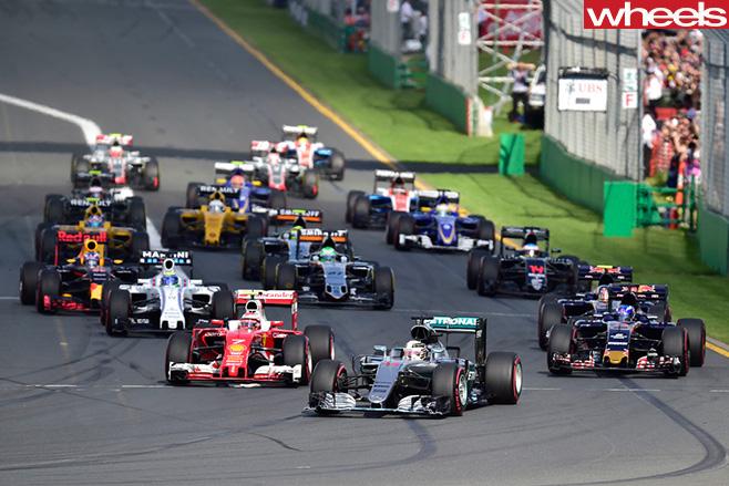 Formula 1 Melbourne 2017 calendar