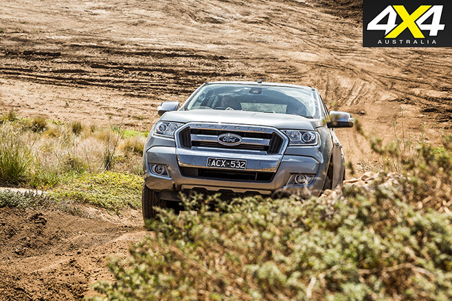 Ford Ranger uphill