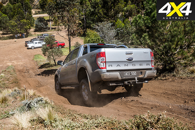 Ford Ranger driving downhill