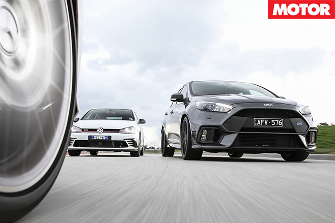 Ford Focus RS vs VW Golf GTI 40 Years