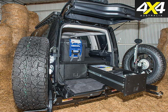Custom Land Rover Discovery rear storage