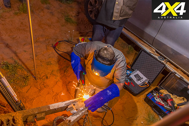 Welding in the outback