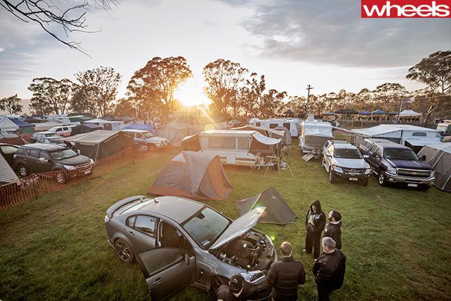 HSV-at -Mt -Panorama -carpark