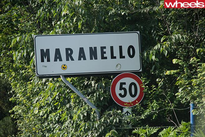 Maranello -sign