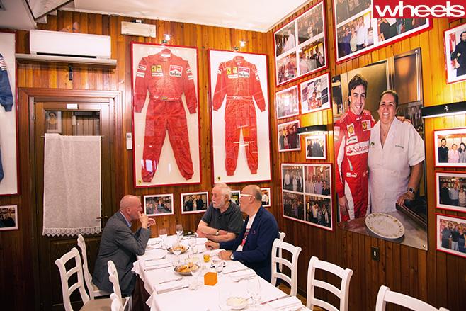 Peter -Robinson -with -Ferrari -memorabilia