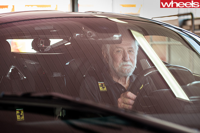 Ferrari -Enzo -Peter -Robinson -in -race -seat