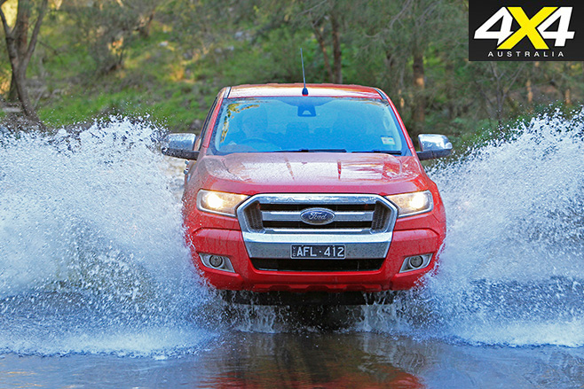 Ford Ranger water driving