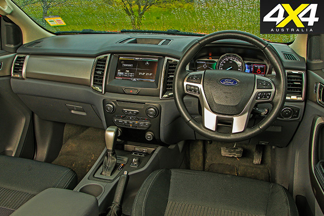 Ford Ranger XLT interior