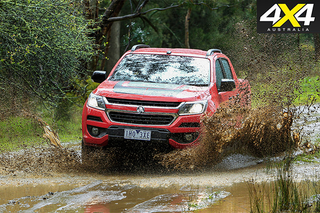 Holden Colorado-Z71 driving mud