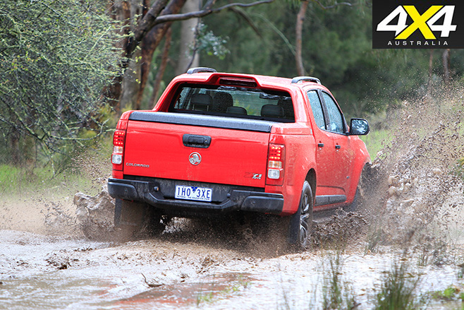 Holden Colorado mud driving