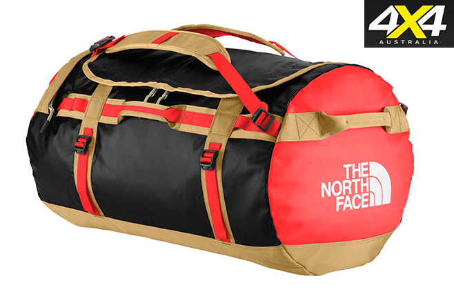 North -face -duffel -bag -red