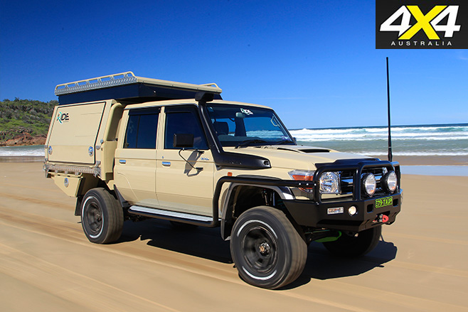 Custom Toyota -Land Cruiser 79 GXL driving
