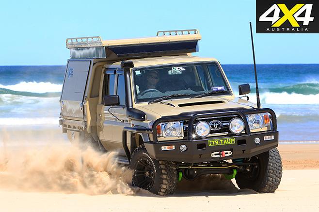 Custom Toyota LandCruiser 79 GXL sand driving