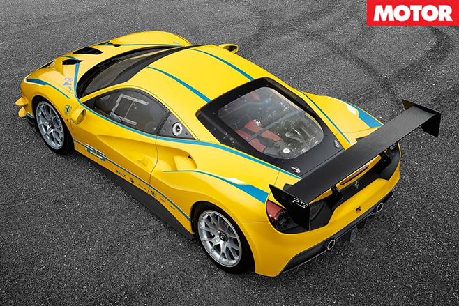2017-Ferrari -488-Challenge -racer -rear