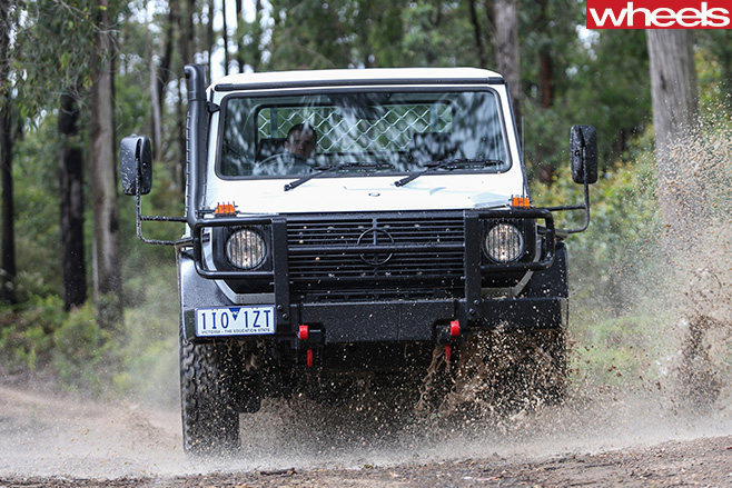 2017-Mercedes -G300-G-Professional -front -mud -water