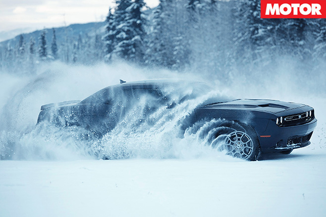 Dodge Challenger gets AWD option snow