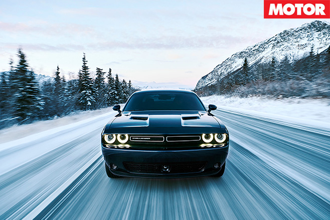 Dodge Challenger gets AWD option driving front