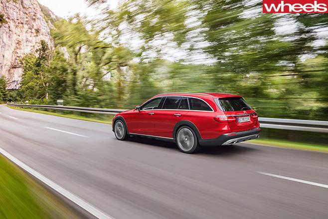 Mercedes -Benz -E-Class -All -Terrain -2017-rear -side -dynamic