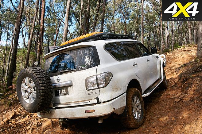 Supercharged Nissan Patrol Y62 rear