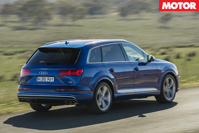 2017 Audi SQ7 TDI review rear