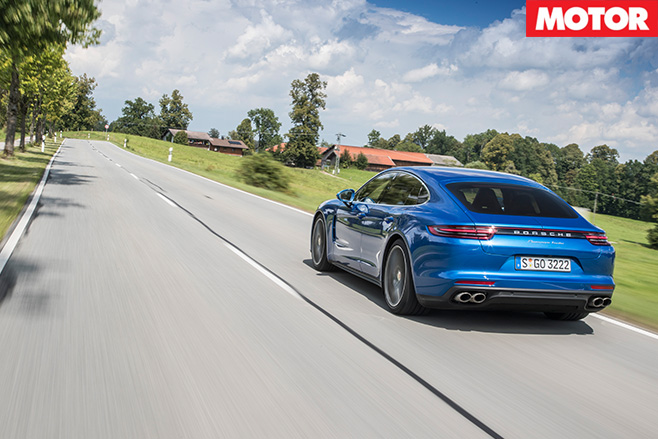 2016-Porsche -Panamera -Turbo -Review -rear -drive
