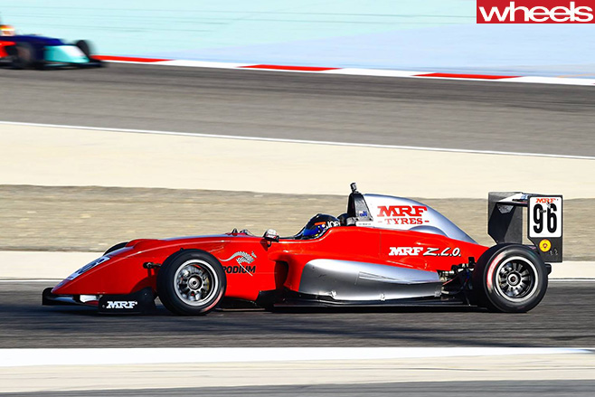 Joey -Mawson -MRF-Challenge -Bahrain -racing