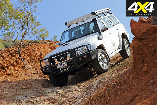 Nissan Patrol Legend Edition driving downhill