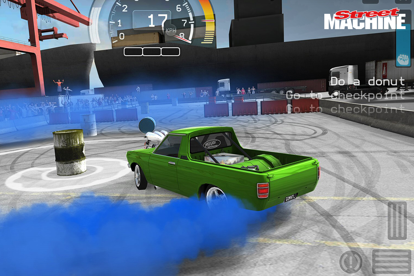 Datsun 1200 Ute Burnout