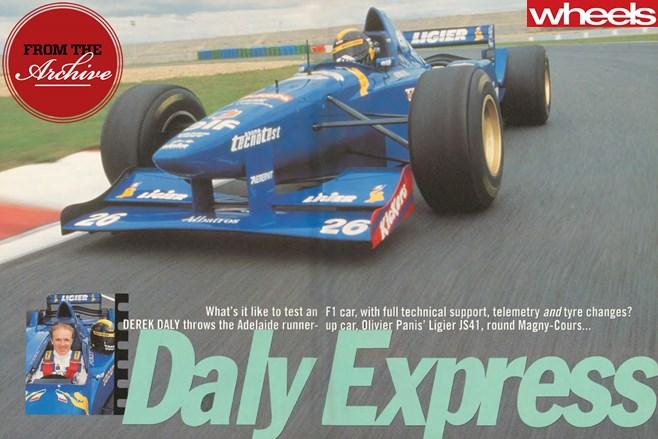 1996-Ligier -JS41-F1-sports -car -driving -front