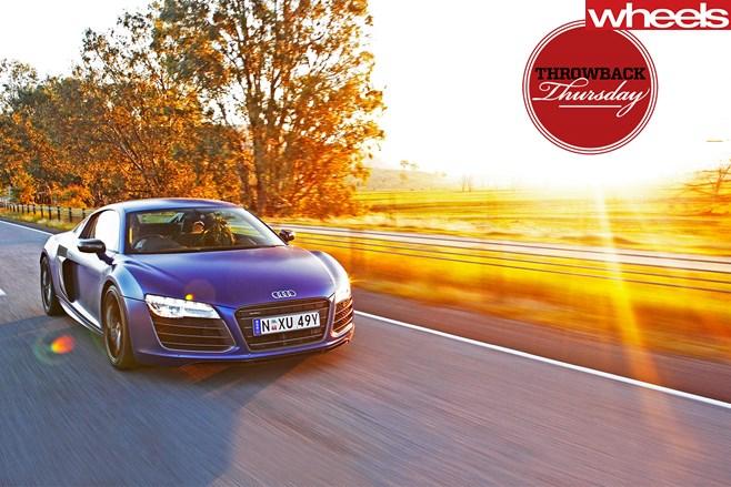 2013-Audi -R8-front -side -sunset -(1)