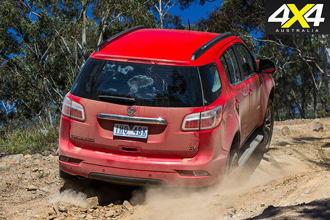 2017 Holden Trailblazer LTZ rear uphill