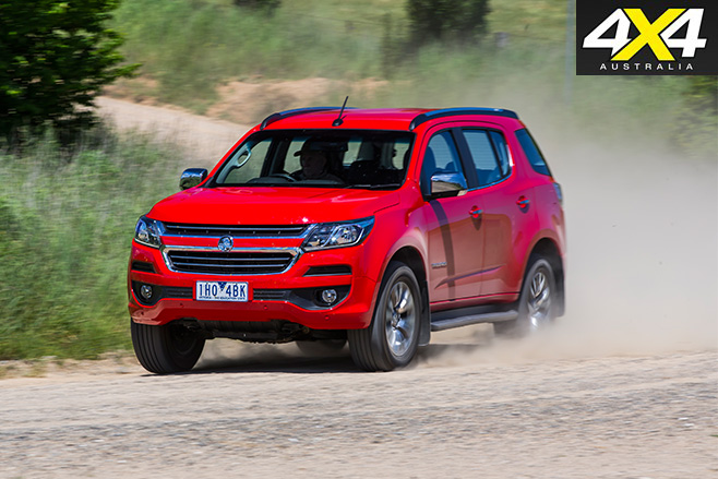 Holden trailblazer on the road